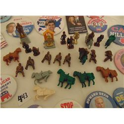 KINDER SURPRISE SOLDIERS & US ELECTION PINS