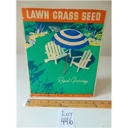 SHADY NOOK GRASS SEED CARDBOARD COUNTER DISPLAY SIGN