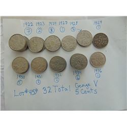 32 GEORGE V FIVE CENTS MARKED IN PHOTO