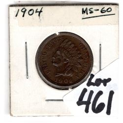1904 INDIANHEAD PENNY UNCIRCULATED