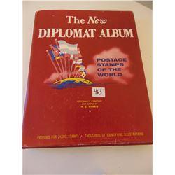 1960 DIPLOMAT WORLD STAMP ALBUM  UNUSED WITH COAT OF ARMS STAMPS UNUSED