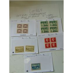 OFFICIAL GOVERNMENT STAMPS UNUSED VINTAGE