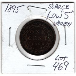 1895 LOW 9 VARIETY LARGE CENT