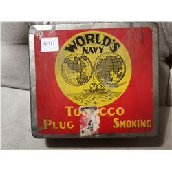 World's Navy Tobacco Tin Can