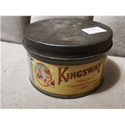 Kingsway 25 cent Tabacco Tin Can