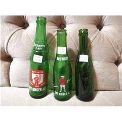 3 Drewry's RCMP Bottles