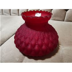 """Dark Red Shade for Coal Oil Lamp - For 7"""" Spider"""