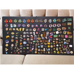 Lot of Pins on Cardboard