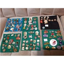 6 Smalller Displays of Pins , Lots of Curling Pins