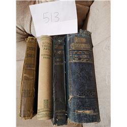 4 Antique Books David Copperfield