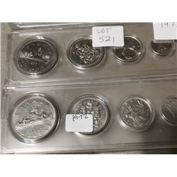1972,77,79 Set of Canada Coins