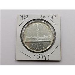 1939 Double HP Silver Dollar