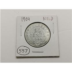 1904 NFLD Silver 50 Cent Coin