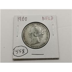 1900 NFLD Silver 50 Cent Coin