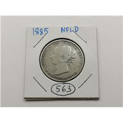 1885 NFLD Silver 50 Cent Coin