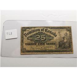 1900 Shinplaster 25 Cent, Courtney Sign