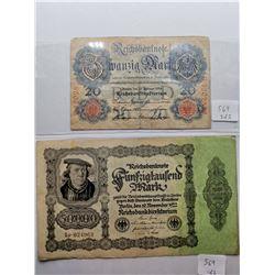 1914 and 1922 German Bills