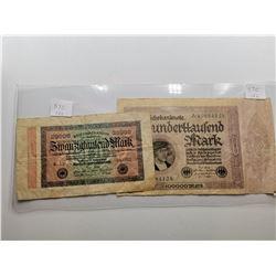 Two 1923 German Bills