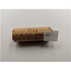 1973 Full Roll of 25 Cent RCMP Coins