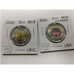 2020 UNC $2 Coin, Bill Reid