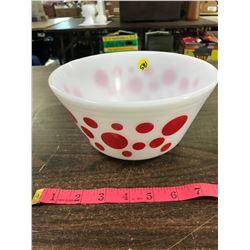 Vintage Red Dot Federal Glass Bowl