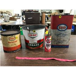 (4) Assorted Oil Cans