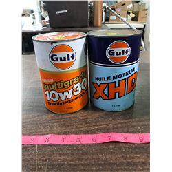 (2) Golf Oil Cans (Full)