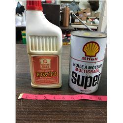 (2) Oil Quart Cans (Full)