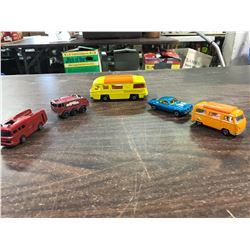 (5) Matchbox/ Lesney Diecast Vehicles