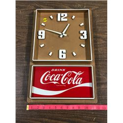 "Battery Operated Case Clock 18""x12"" (Working Condition)"