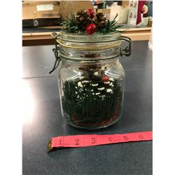 Christmas Decorated Jar