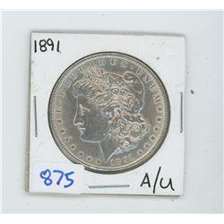 1891 American Silver Dollar