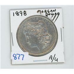 1898 American Silver Dollar