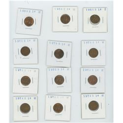139 American Wheat Pennies 1910-1958 & 12 American Lincoln Pennies Total Lot  of 151