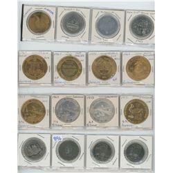 Various Tokens & Trade Dollars Lot of 16