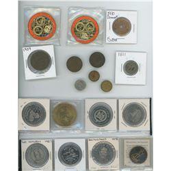 Various Tokens & Trade Dollars & Coins