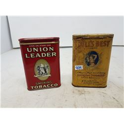 Tobacco Tins - Union Leader & Dill's Best