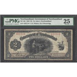Newfoundland NF-13b 1920 $2 VF25 PMG
