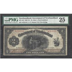 Newfoundland NF-13d 1920 $2 VF25 PMG