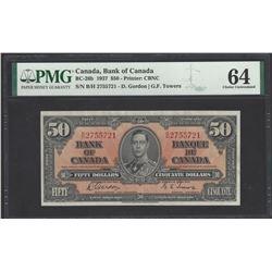 Canada BC-26b 1937 $50 CHUNC64 PMG