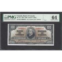 Bank of Canada BC-27c 1937 $100 CHUNC64 PMG