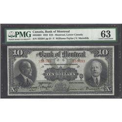 Bank of Montreal 505-56-04 1923 $10 CHUNC63 PMG