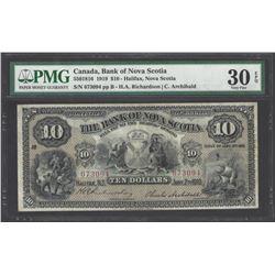 Bank of Nova Scotia 505-18-16 1919 $10 VF30 EPQ PMG