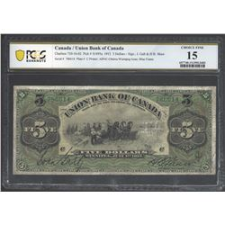 Union Bank of Canada 730-16-06 1912 $5 Green frame F15 PCGS