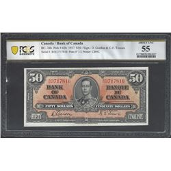 Bank of Canada BC-26b 1937 $50 AU55 PCGS