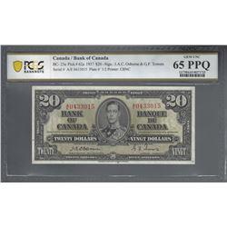 Bank of Canada BC-25a 1937 $20 Osborne GEM UNC