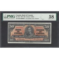 Bank of Canada BC-26b 1937 $50 AU58 PMG