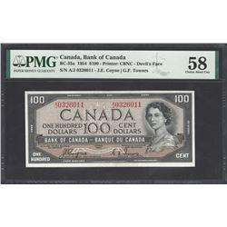 Bank of Canada BC-35a 1954 $100 Devil's Face AU58 PMG