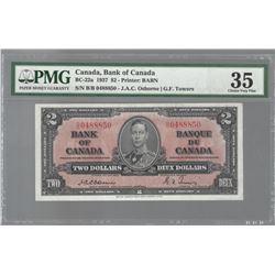 Bank of Canada BC-22a 1937 $2 Osborne VF35 PMG