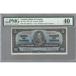 Bank of Canada BC-23a 1937 $5 Osborne EF40 PMG